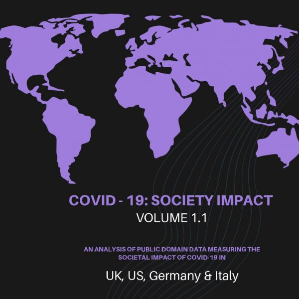 Cover for Society Analytics report emotions and behaviour due to Covid-19